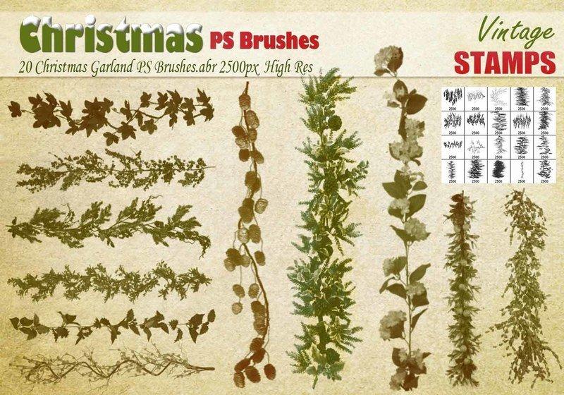 Christmas Garland PS Brushes Photoshop brush
