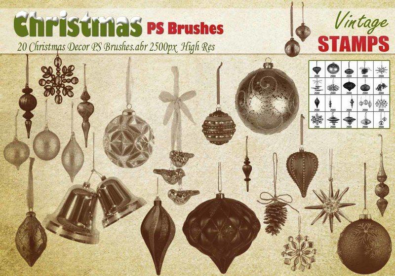 Christmas Decor PS Brushes  Photoshop brush