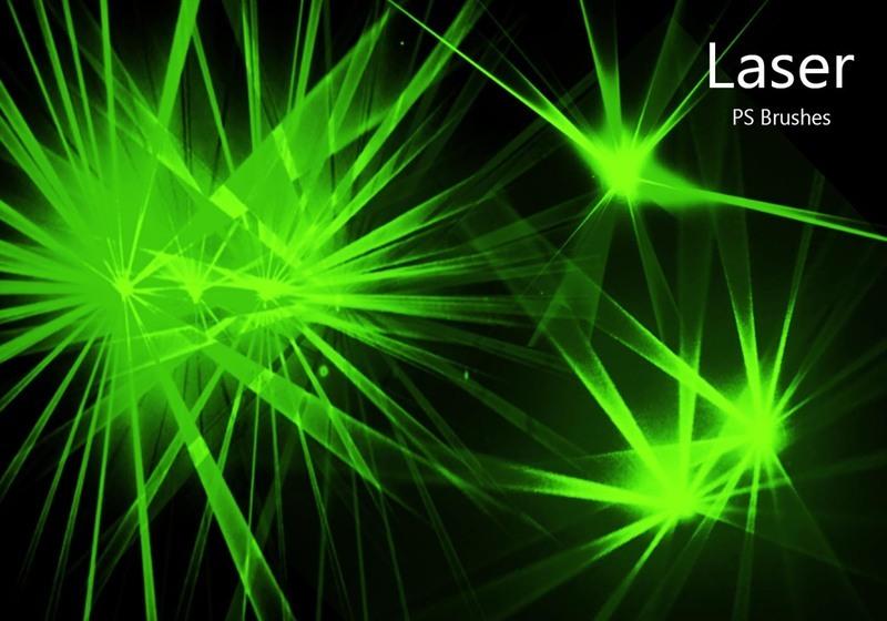 20 Laser PS Brushes abr. vol.7 Photoshop brush