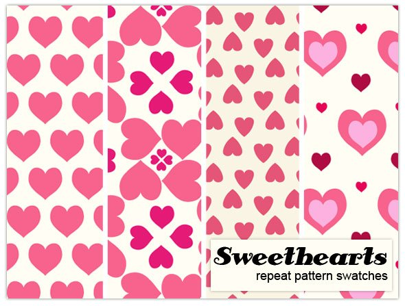 Sweetheart pattern Photoshop brush
