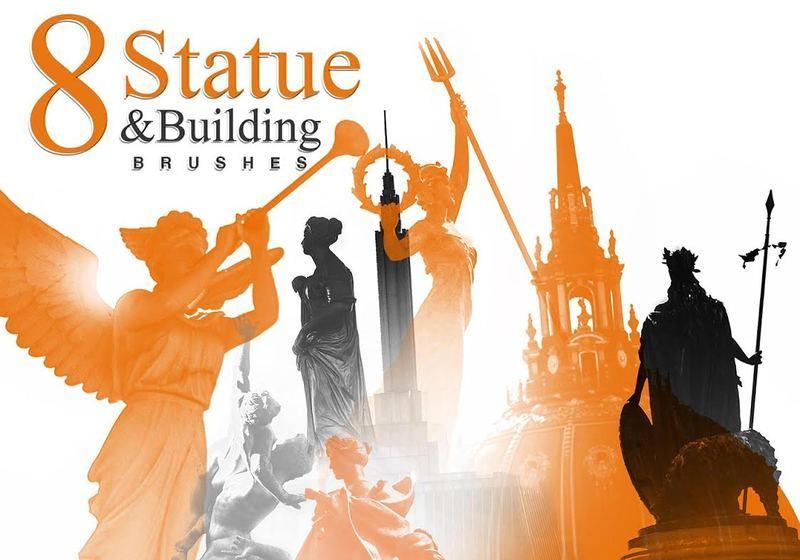 Statue Brushes Pack Photoshop brush