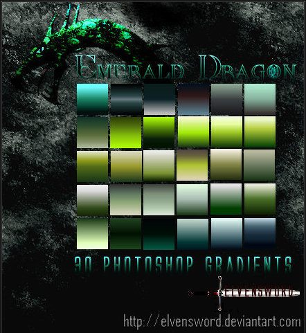 Emerald Dragon Ps Gradients Photoshop brush