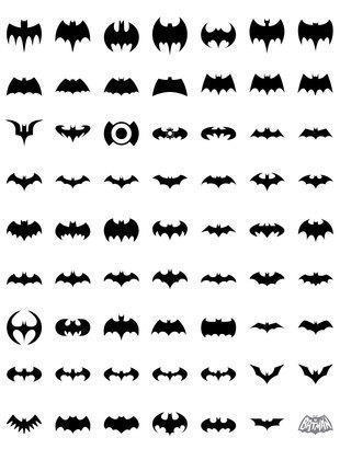Bat Brush Pack - 70 Years of the Bat Photoshop brush