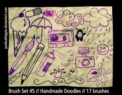 Handmade Doodles Photoshop brush
