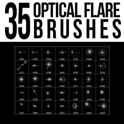 35 Optical Flare Brushes Photoshop brush