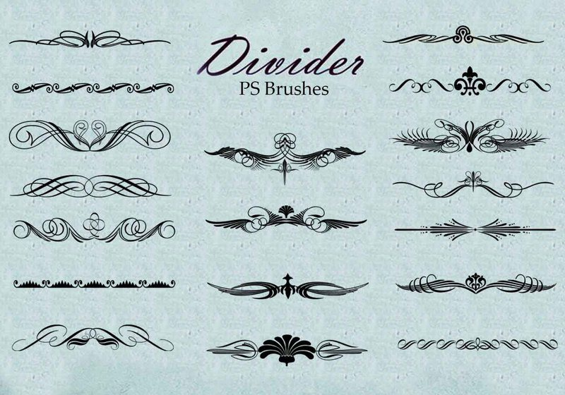 20 Divider Ps Brushes abr. vol.5 Photoshop brush