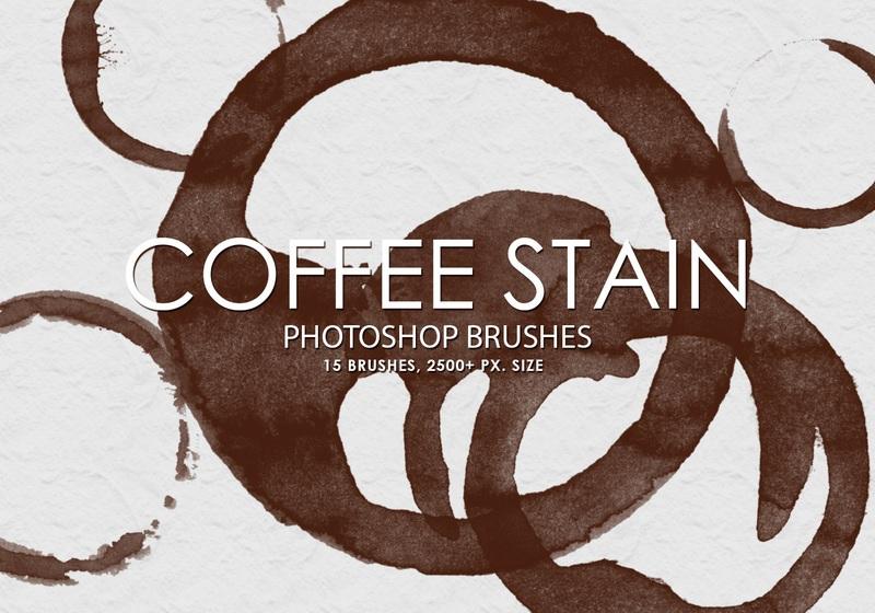 Free Coffee Stain Photoshop Brushes Photoshop brush