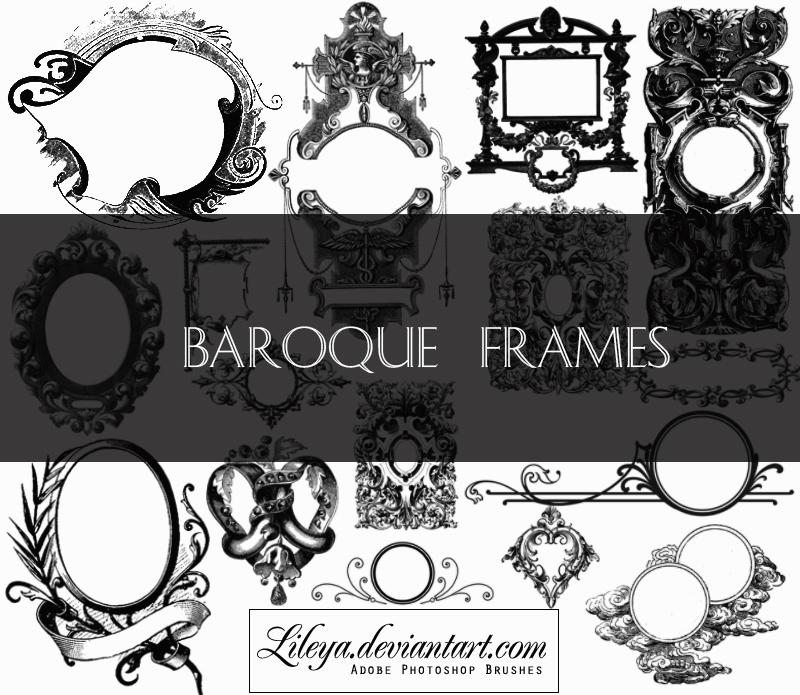 Baroque Frames Photoshop brush