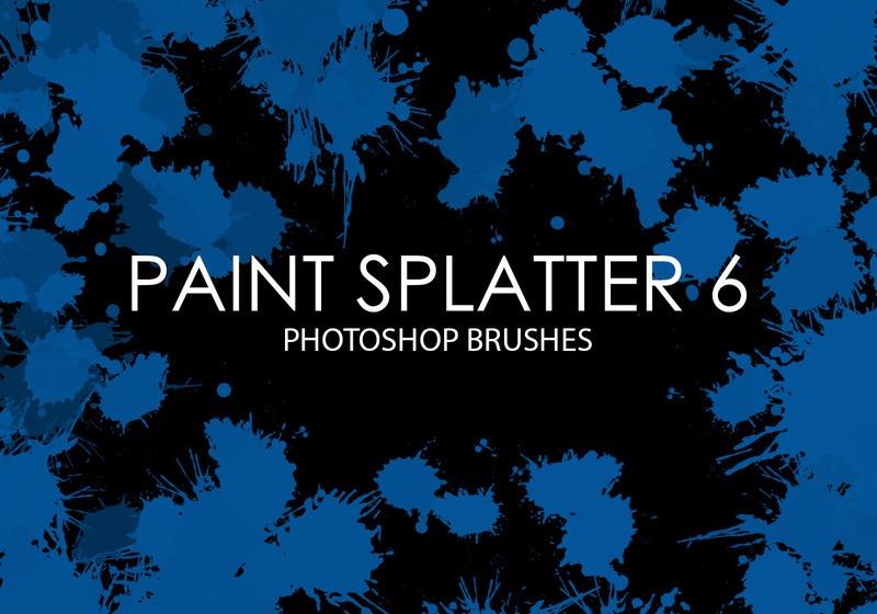 Free Paint Splatter Photoshop Brushes 6 Photoshop brush