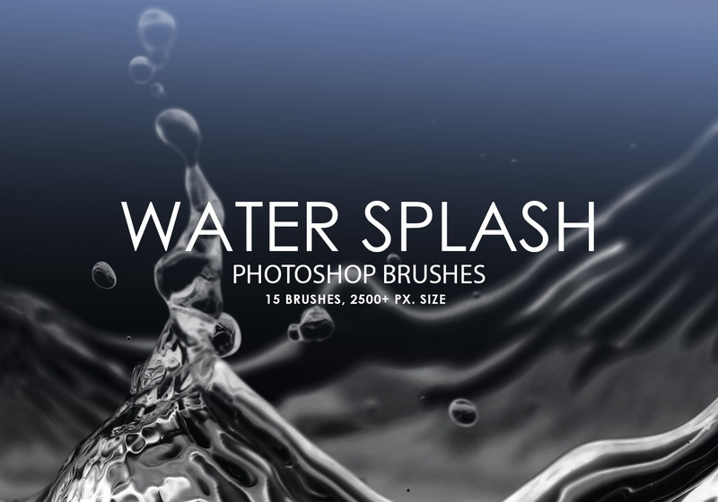 Free Water Splash Photoshop Brushes Photoshop brush