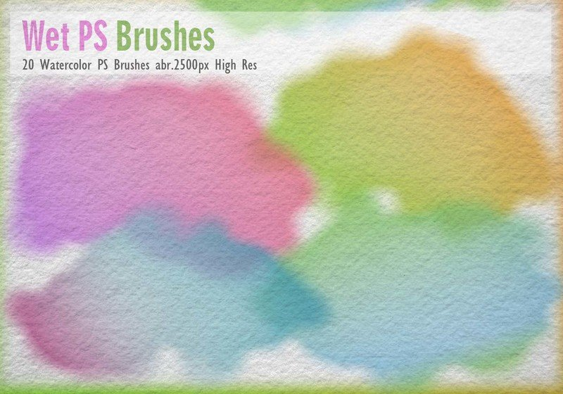 20 Watercolor PS Brushes abr. Photoshop brush
