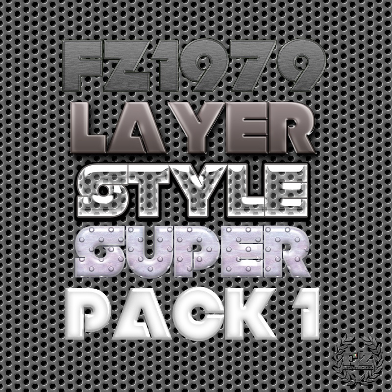 Super pack layer style 1 Photoshop brush