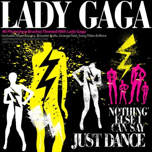 Lady Gaga Photoshop Brushes Photoshop brush