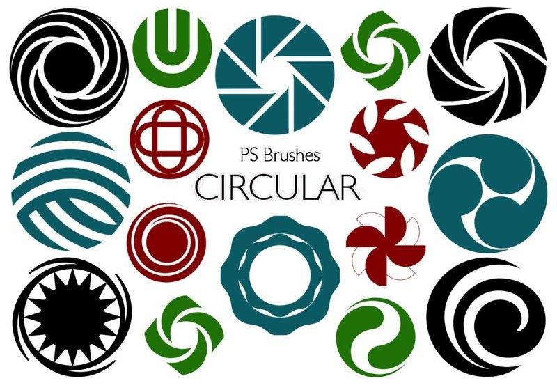 20 Circular PS Brushes abr Vol.8 Photoshop brush