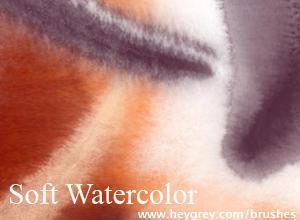 Soft Watercolor brushes Photoshop brush
