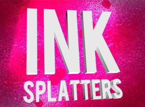 Grungy Ink Splatter Sprays Photoshop brush