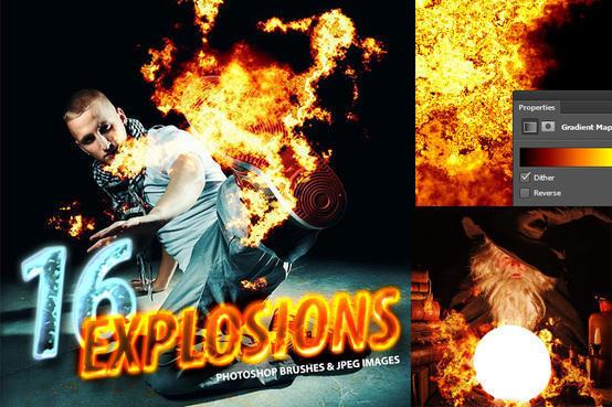 16 Photorealistic Explosion Brushes Photoshop brush