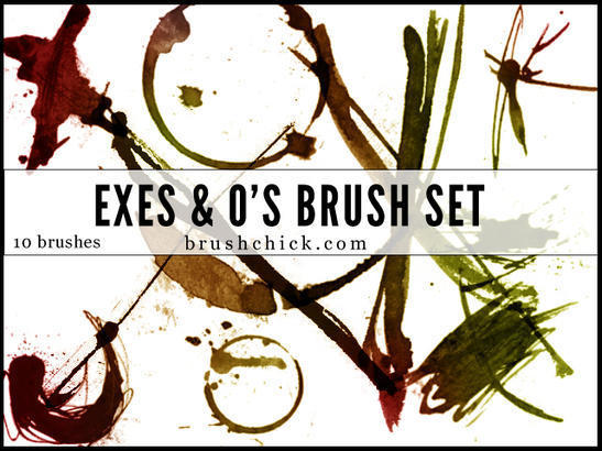 Exes & O's Brush Pack Photoshop brush