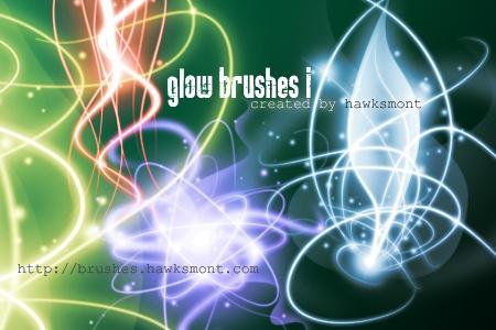 Glow Brushes I Photoshop brush