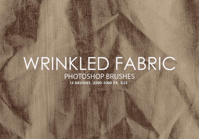 Free Wrinkled Fabric Photoshop Brushes Photoshop brush
