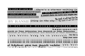 Bowie Lyrics 02 Photoshop brush