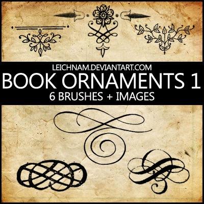 Book Ornaments Brushes 1 Photoshop brush