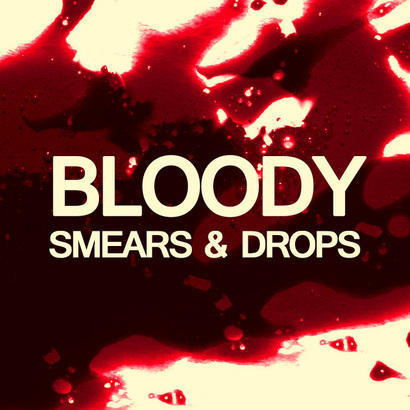 20 Bloody Smears and Drops Photoshop brush