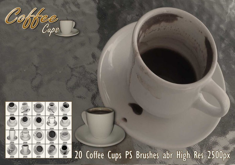 Coffee Cups PS Brushes Photoshop brush