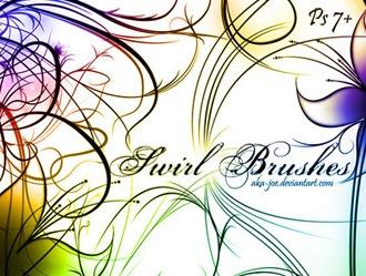 Swirl Brushes Photoshop brush