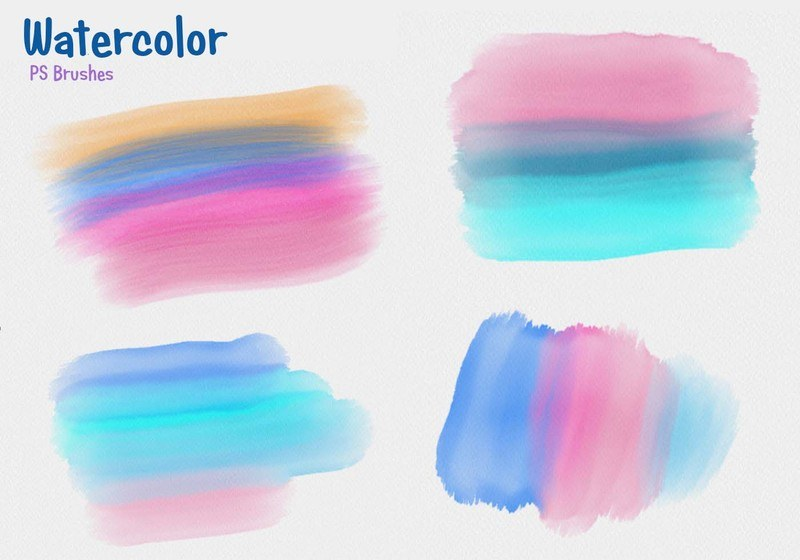 20 Watercolor Mask PS Brushes abr Photoshop brush