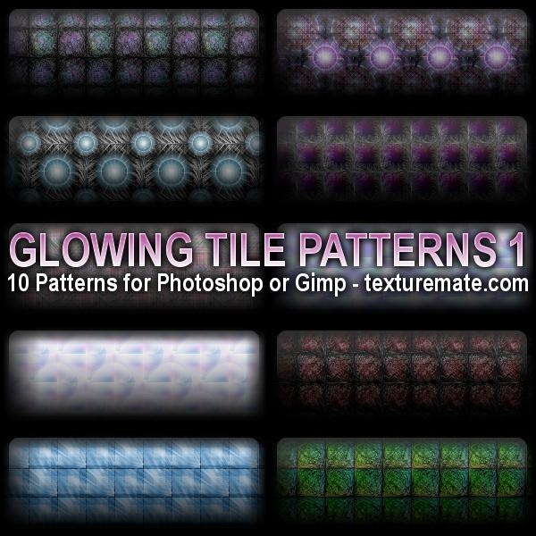 Glowing Tile Patterns 1 Photoshop brush
