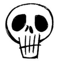 Grunge White Skull Brush Photoshop brush