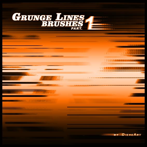 Grunge Lines Part 1 Photoshop brush