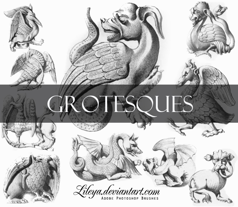 Grotesques Photoshop brush