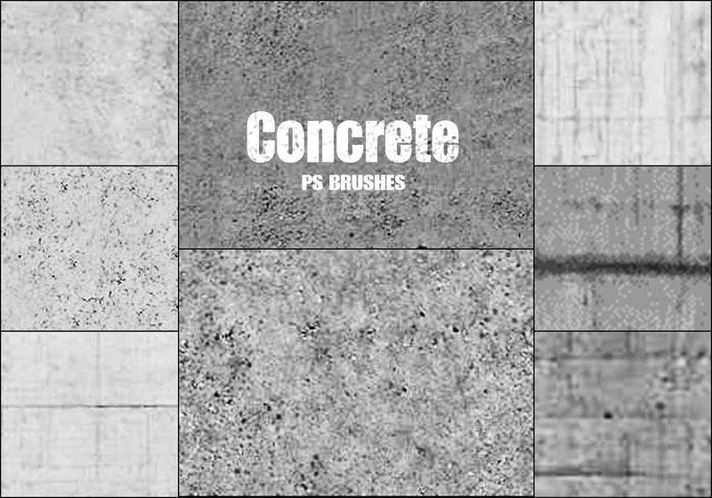 20 Concrete PS Brushes abr vol 9 Photoshop brush