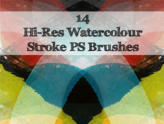 Watercolour Strokes Photoshop brush