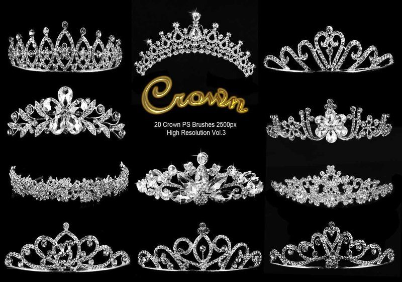 20 Crown PS Brushes abr. vol.3 Photoshop brush