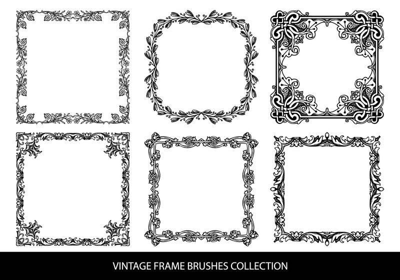 Decorative Vintage Frame Brushes Photoshop brush