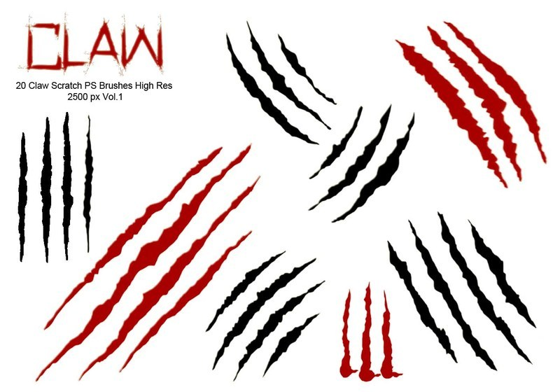 20 Claw Scratch PS Brushes abr. vol.1 Photoshop brush