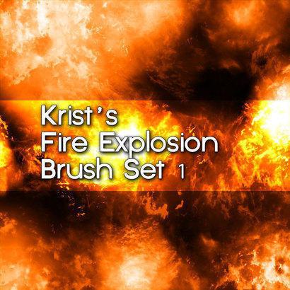 Krist's Fire Brush Set 1 Photoshop brush