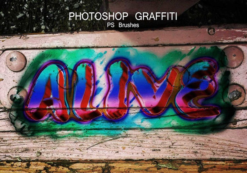 20 Graffiti PS Brushes abr. Vol.2 Photoshop brush