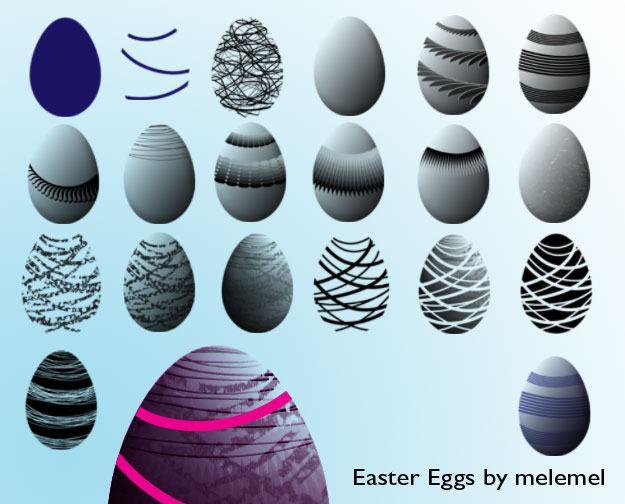 Easter Egg Brushes Photoshop brush