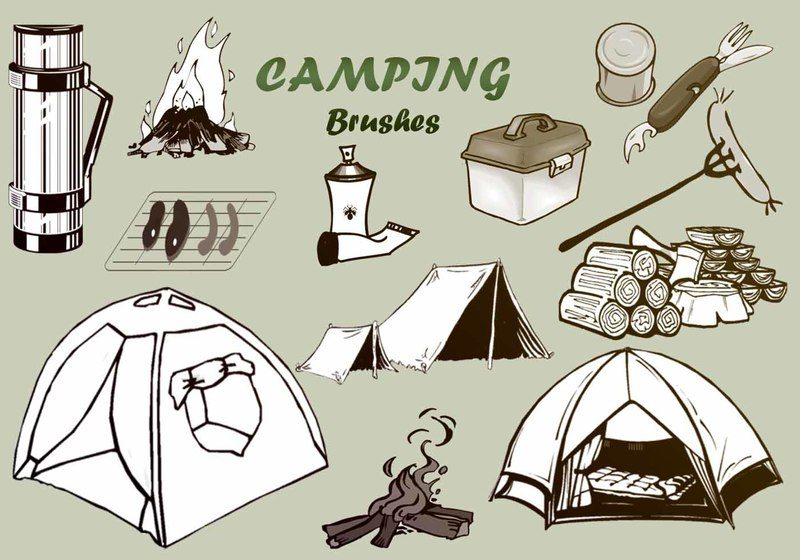 20 Camping PS Brushes abr. vol.2 Photoshop brush
