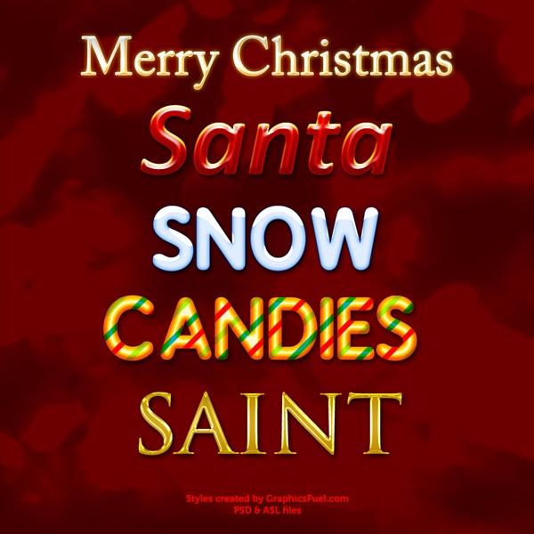 Christmas Styles Photoshop brush