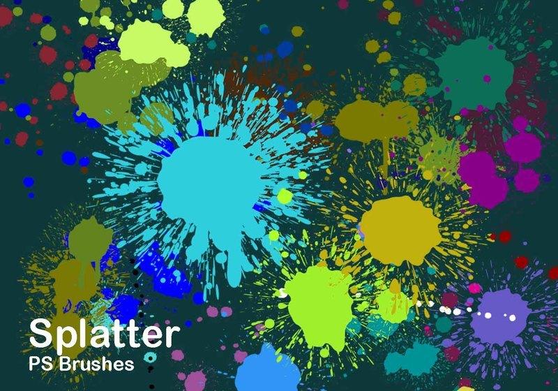 20 Splatter Color PS Brushes abr vol.2 Photoshop brush