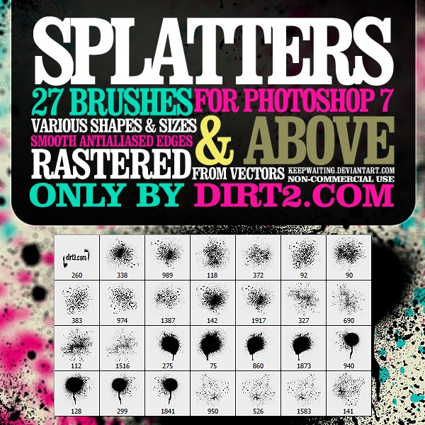 Spraypaint Splatter Photoshop brush