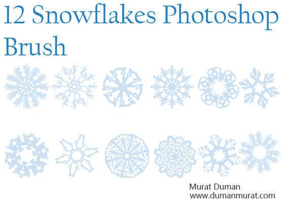 Free snowflakes photoshop brush Photoshop brush