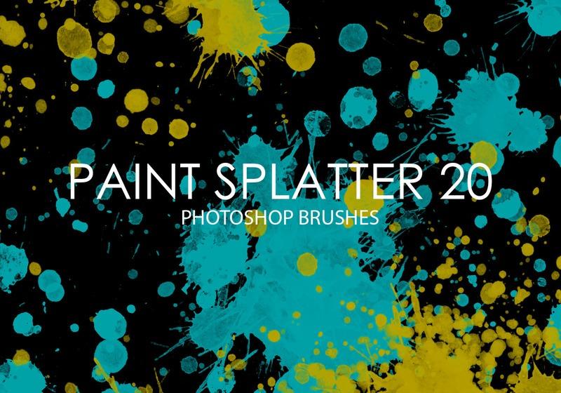 Free Paint Splatter Photoshop Brushes 20 Photoshop brush