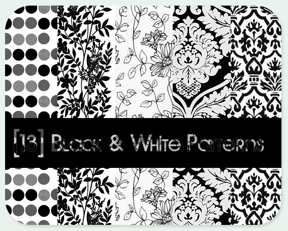 Black - White patterns Photoshop brush