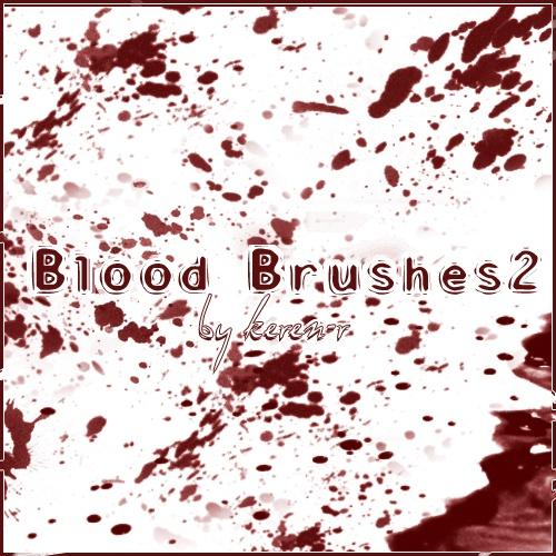 Blood Brushes 2 Photoshop brush